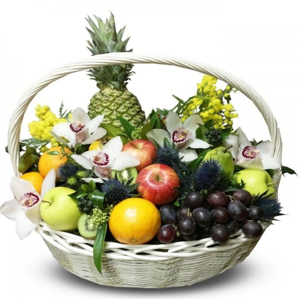 """Корзина с фруктами """"С Цветами"""""""