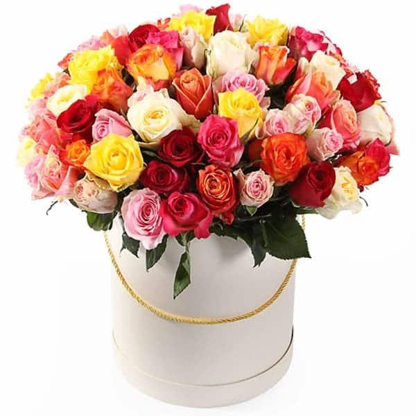 """Цветы в коробке """"Цветочный коктейль"""""""