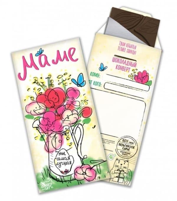 """Шоколадная открытка """"Маме"""""""