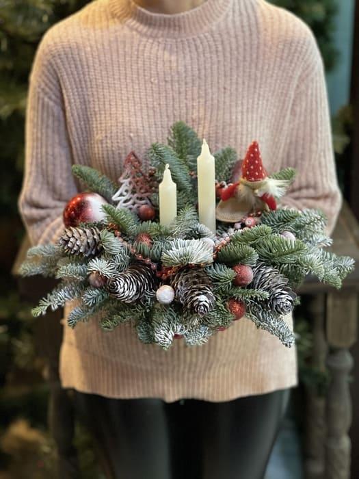 """Новогодняя композиция """"Санта Клаус"""""""