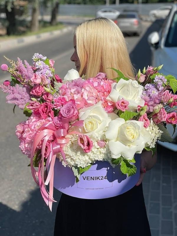 """Цветы в коробке Premium """"Волшебство красок"""""""